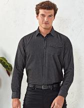 Men`s Jeans Stitch Denim Shirt